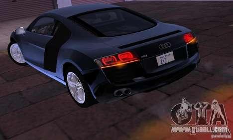 Audi R8 4.2 FSI for GTA San Andreas right view