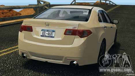 Honda Accord Type S 2008 for GTA 4 back left view