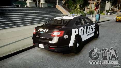 Ford Taurus Police Interceptor 2011 [ELS] for GTA 4 side view
