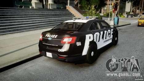 Ford Taurus Police Interceptor 2011 [ELS] for GTA 4 side view