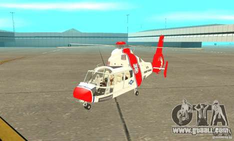 AS-365N United States Coast Guard for GTA San Andreas left view