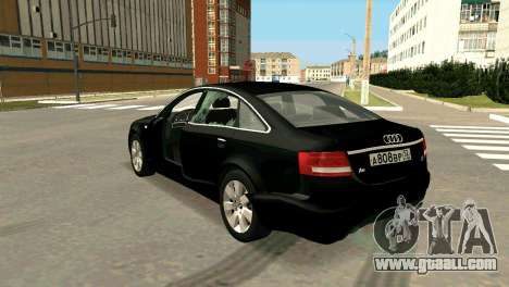 Audi A6 for GTA San Andreas upper view