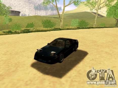 Pontiac Fiero V8 for GTA San Andreas upper view