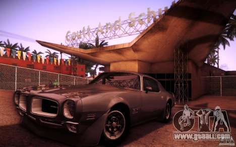 Pontiac Firebird 1970 for GTA San Andreas inner view