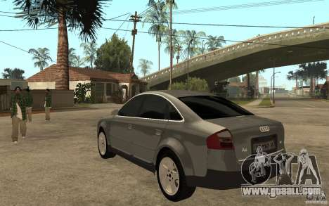 Audi A6 3.0i 1999 for GTA San Andreas back left view