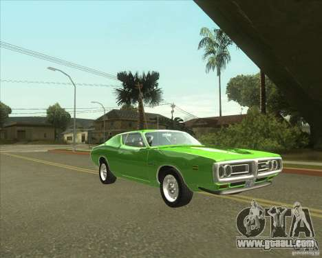 1971 Dodge Charger Super Bee for GTA San Andreas back left view