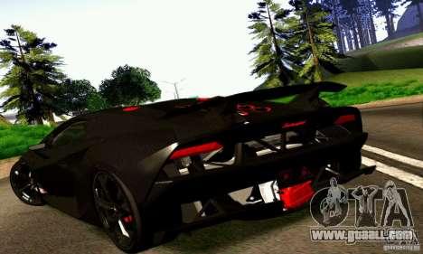 Lamborghini Sesto Elemento for GTA San Andreas back left view