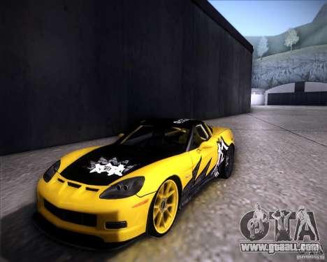 Chevrolet Corvette C6 super promotion for GTA San Andreas