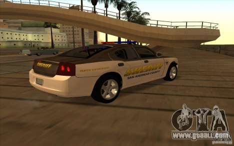 County Sheriffs Dept Dodge Charger for GTA San Andreas back left view