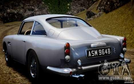 Aston Martin DB5 1964 for GTA 4 back view