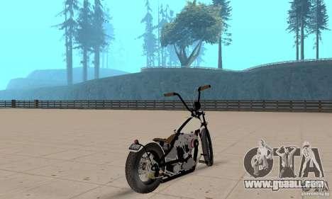 HD Shovelhead Chopper v2.1-matte for GTA San Andreas left view