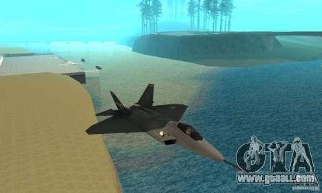 YF-22 Standart for GTA San Andreas back view