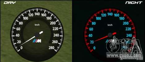 New BMW speedometer for GTA San Andreas