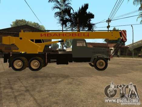 KrAZ truck for GTA San Andreas right view