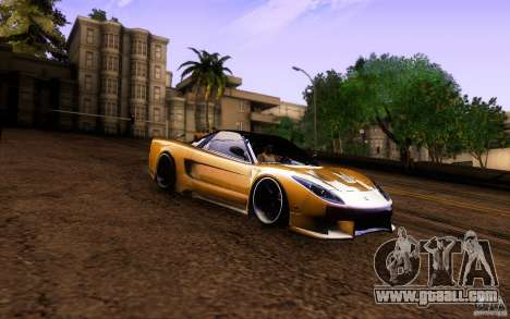 Honda NSX VielSide Cincity Edition for GTA San Andreas inner view