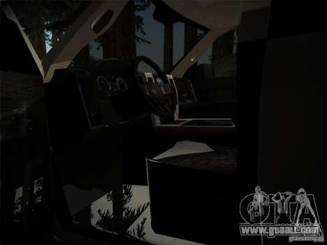 Dodge Ram 3500 4X4 for GTA San Andreas inner view