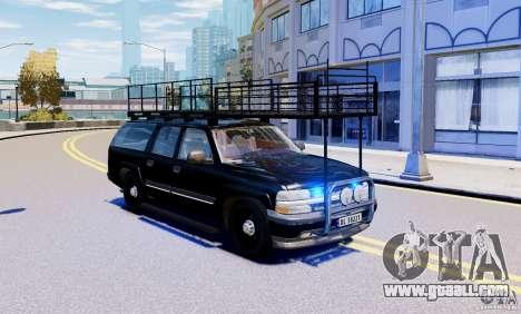 Chevrolet Suburban 2003 Norwegian SWAT Edition for GTA 4