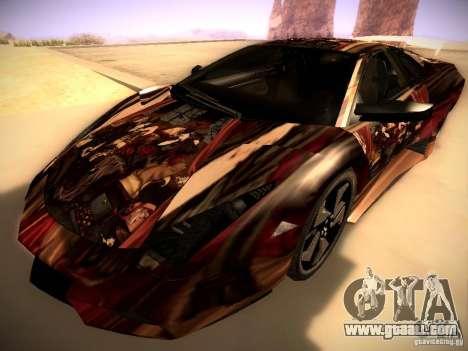 Lamborghini Reventon for GTA San Andreas bottom view