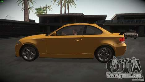BMW 135i Coupe Road Edition for GTA San Andreas left view