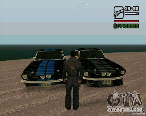 Shelby Mustang GT500 1967 for GTA San Andreas back left view