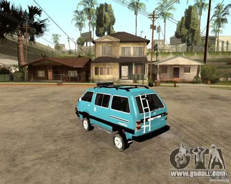 Toyota Town Ace for GTA San Andreas back left view