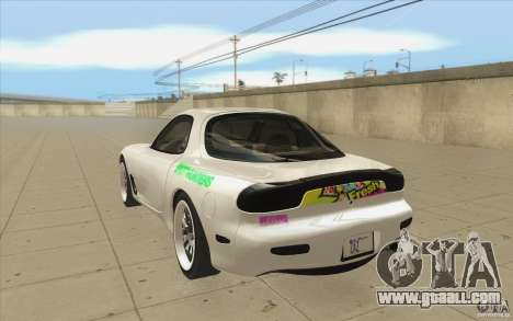 Mazda FD3S - Ebisu Style for GTA San Andreas back left view