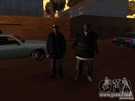 Winter clothes for Ballas for GTA San Andreas sixth screenshot
