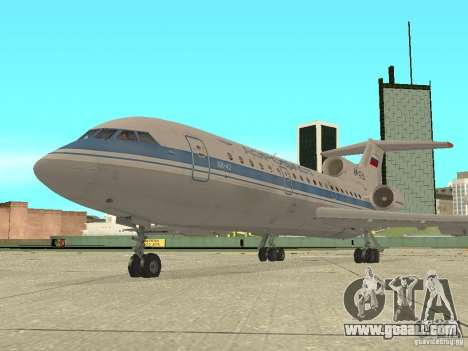 Yak-42 Aeroflot for GTA San Andreas back left view