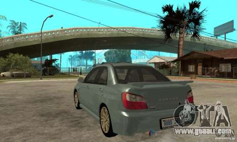 Subaru Impreza 2002 Tunable - Stock for GTA San Andreas right view