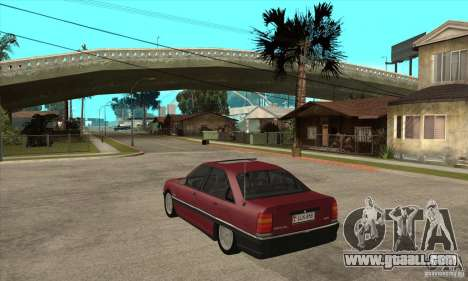 Opel Omega A for GTA San Andreas back left view