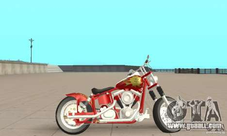 Orange County old school chopper Sunshine for GTA San Andreas back left view