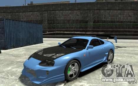 Toyota Supra Black Tuning for GTA 4