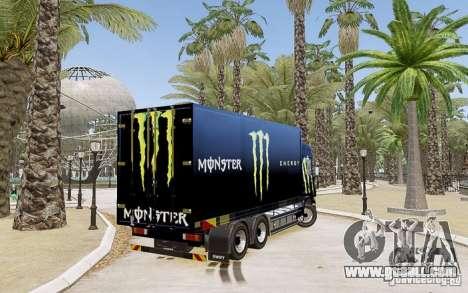 Scania R580 Monster Energy for GTA 4 left view