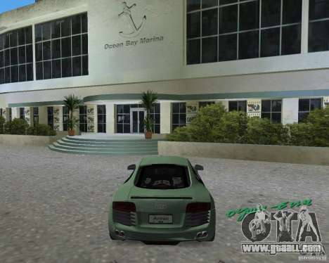 Audi R8 4.2 Fsi for GTA Vice City left view