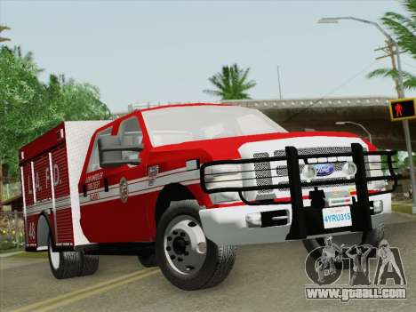 Ford F-350 Super Duty LAFD for GTA San Andreas left view