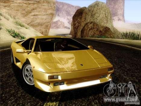 Lamborghini Diablo VT 1995 V3.0 for GTA San Andreas left view