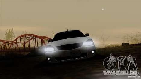 LADA 2170 California for GTA San Andreas inner view