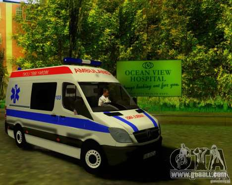 Mercedes-Benz Sprinter Baku Ambulans for GTA San Andreas left view