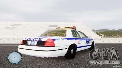 Ford Crown Victoria 2003 NYPD for GTA 4 right view