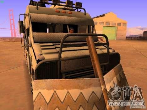Monster Van for GTA San Andreas back view