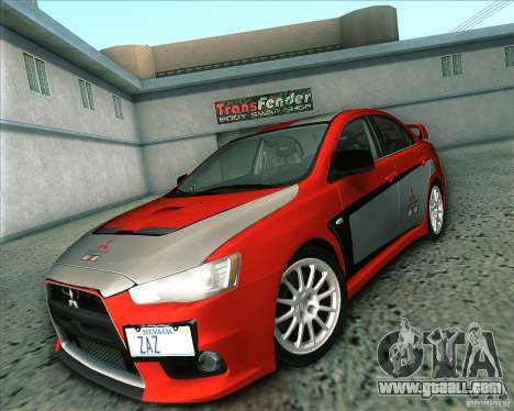 Mitsubishi Lancer Evolution X 2008 for GTA San Andreas inner view
