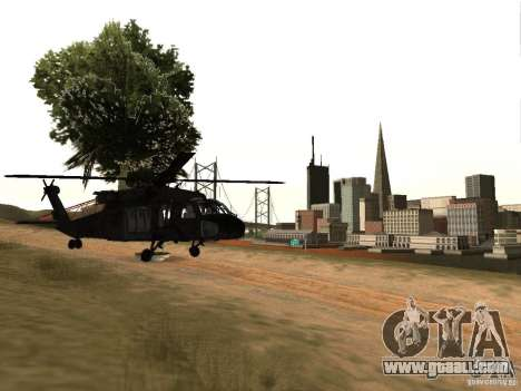 The helicopter from CoD 4 MW for GTA San Andreas right view