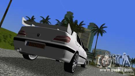 Peugeot 406 Taxi 2 for GTA Vice City back view