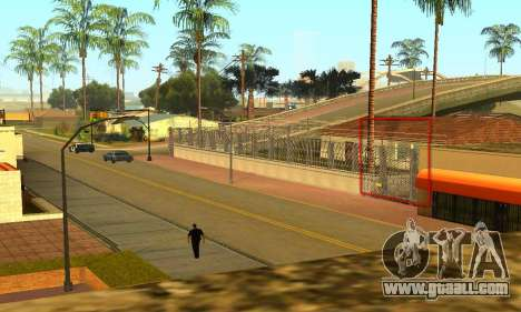 Fence around the Groove Sreet for GTA San Andreas forth screenshot
