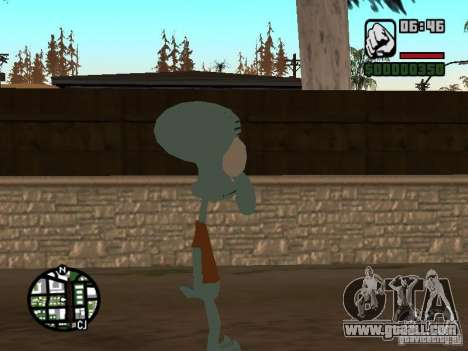 Squidward for GTA San Andreas third screenshot
