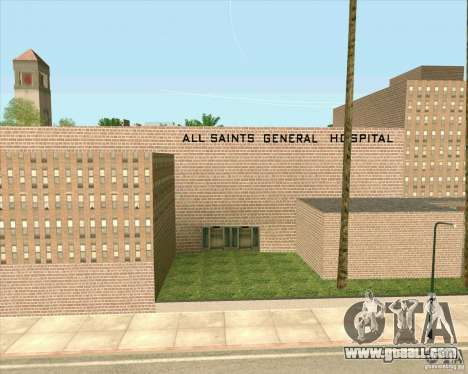 New textures All Saints General Hospital for GTA San Andreas sixth screenshot