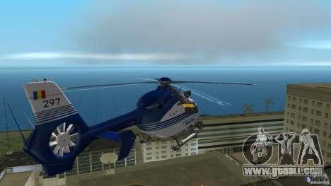Eurocopter Ec-135 Politia Romana for GTA Vice City inner view