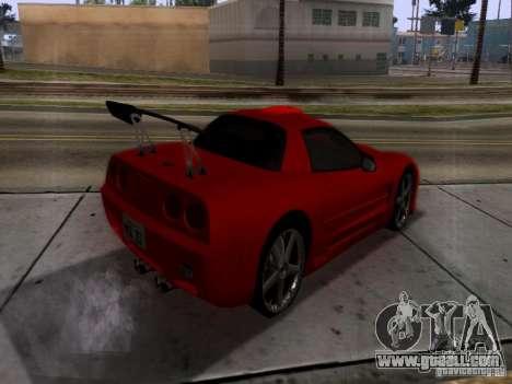 Chevrolet Corvette C5 for GTA San Andreas back view