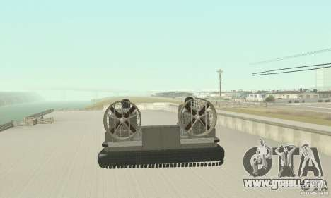 Landing Craft Air Cushion for GTA San Andreas back left view
