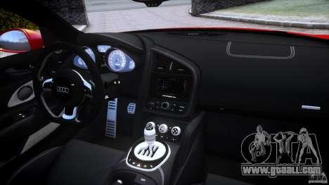 Audi R8 V10 for GTA 4 upper view